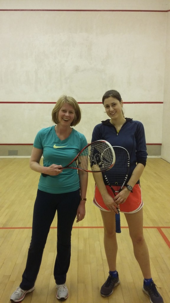 Jane (left) and Rachel (right) after the match