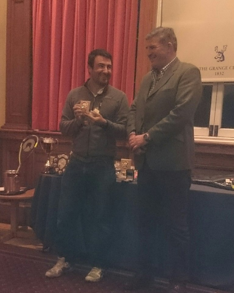 Close Brothers Asset Management Director presenting the Grades Runner up trophy to Gala's Luis Molero